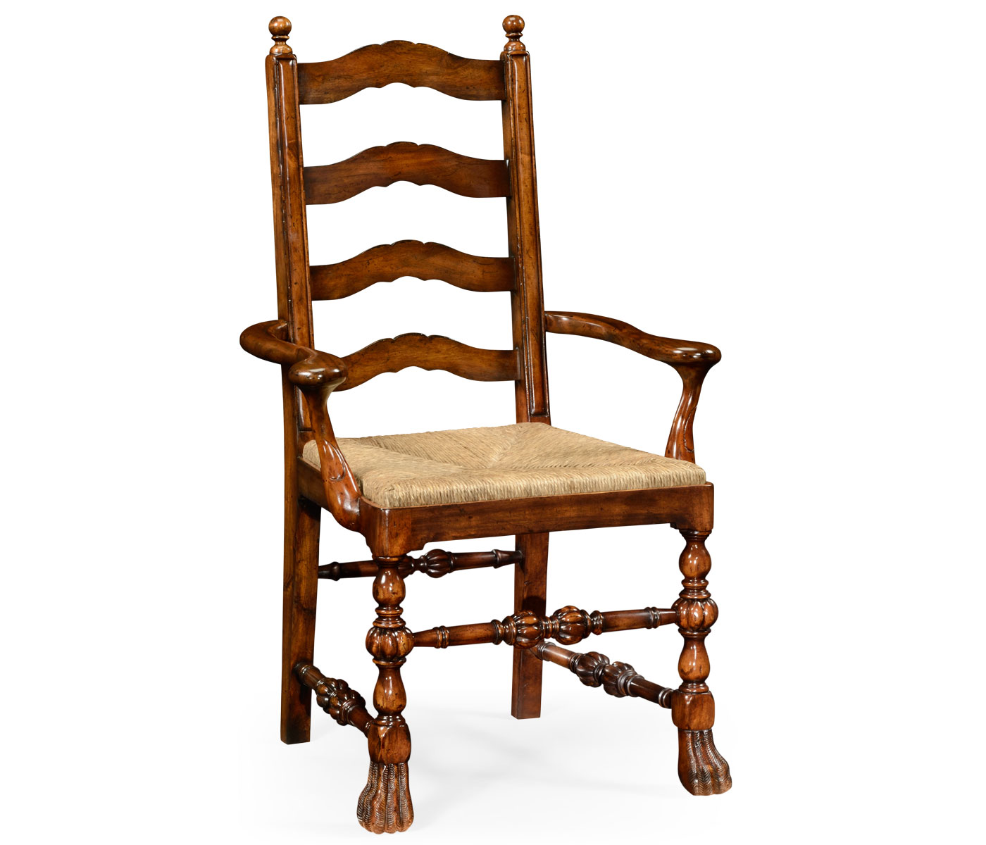 Lion Chair Walnut Ladder Back Chair With Lion 39s Paw Feet Arm