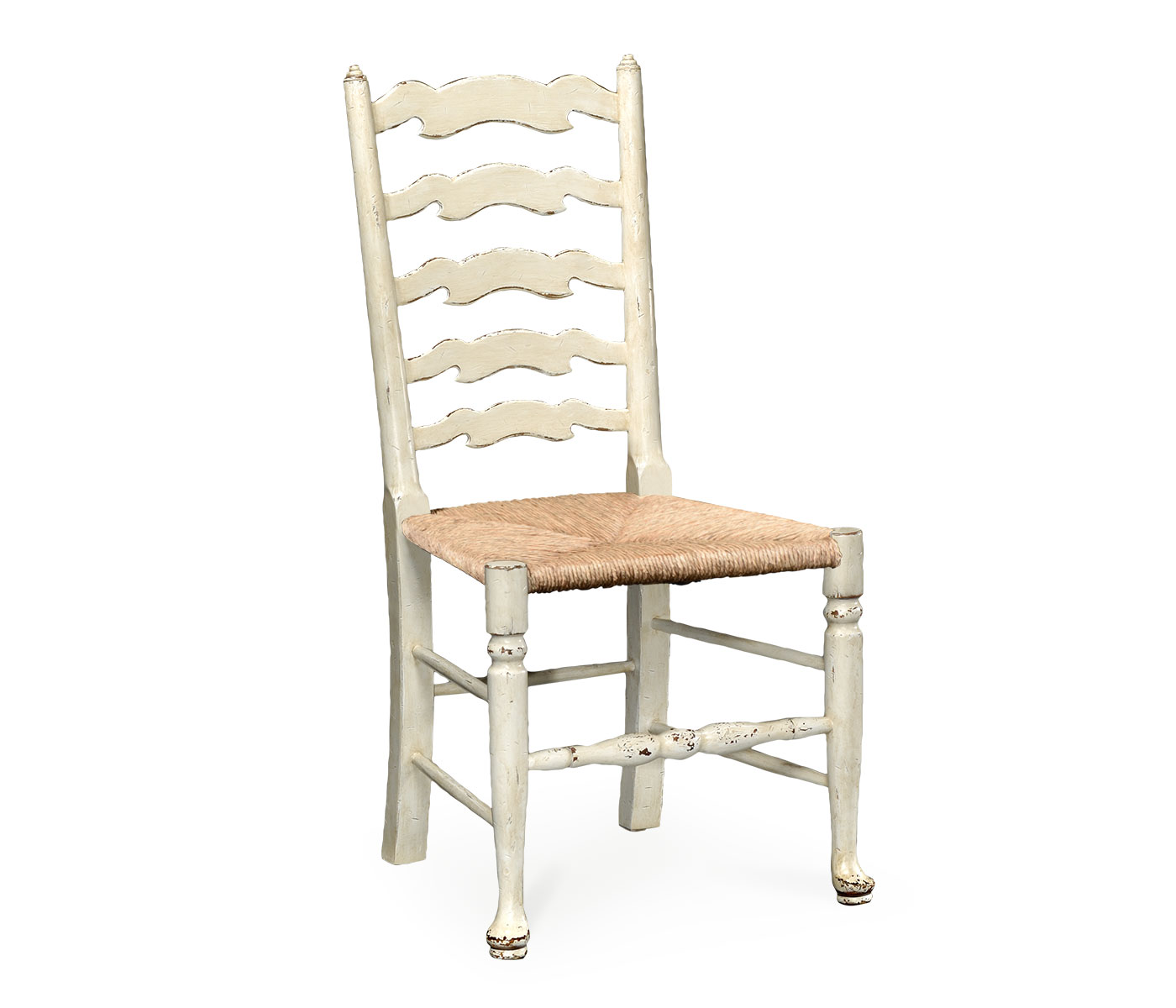 White Ladder Back Chair White Painted Ladder Back Side Chair