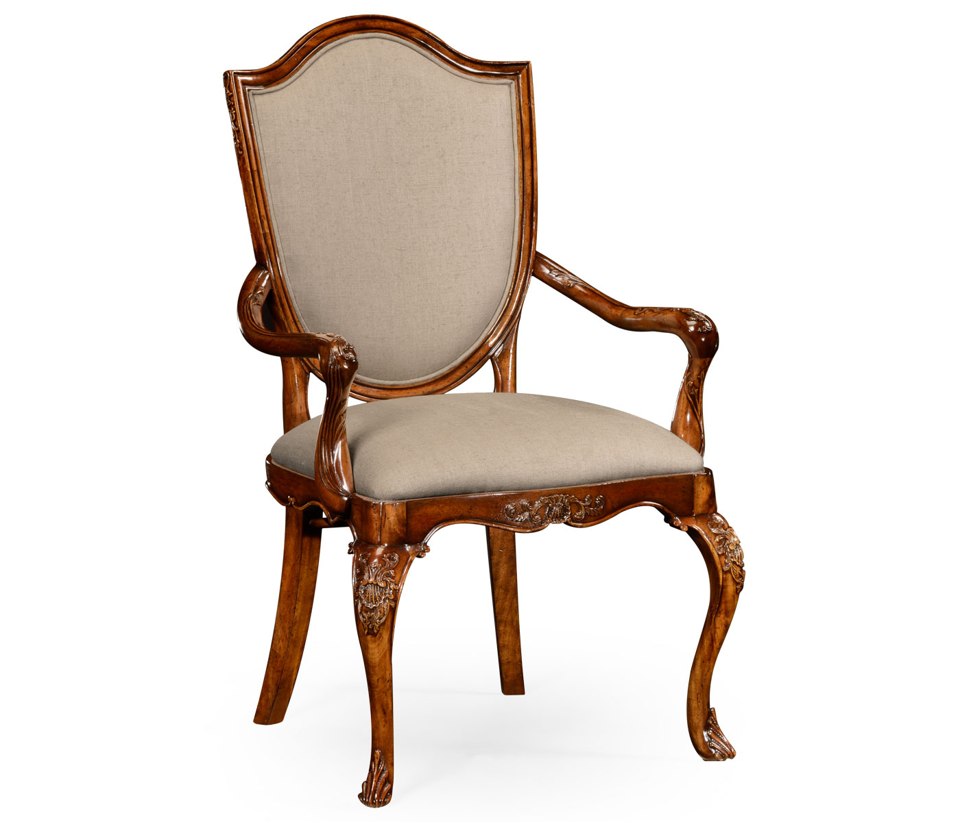 Upholstered Accent Chairs With Arms Upholstered Shield Back Chair Arm