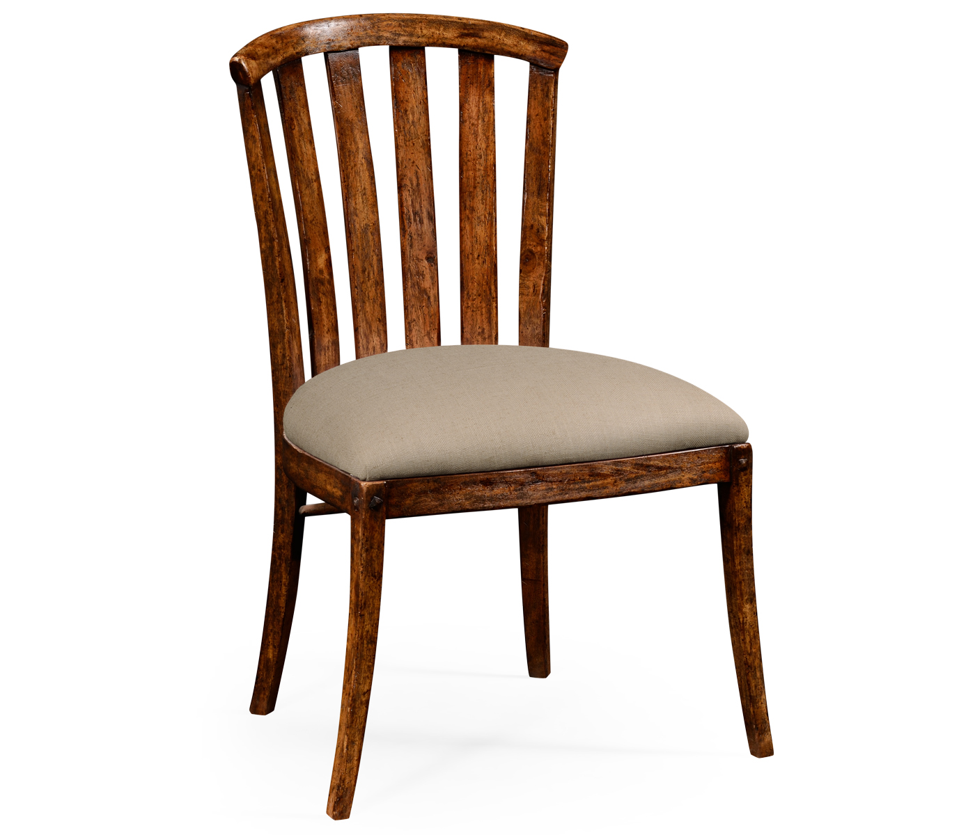 Curved Back Chair Walnut Country Style Curved Back Chair