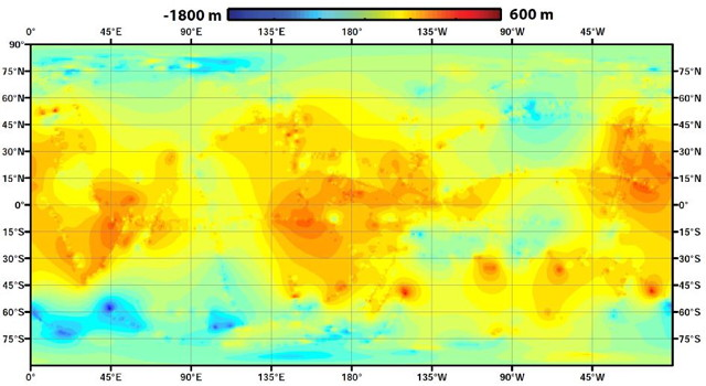 Global topographic map of Titan (NASA/JPL-Caltech/ASI/JHUAPL/Cornell/Weizmann)
