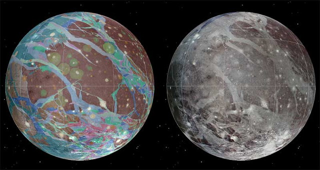 Geologic map of Ganymede