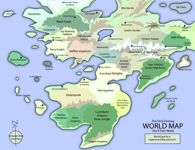 The Only Fantasy World Map You'll Ever Need