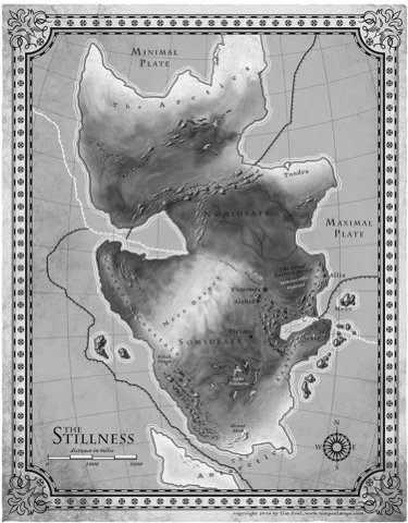 Map for The Fifth Season by Tim Paul