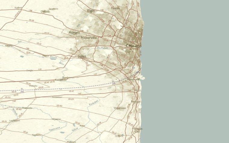 Linearlized Lake Michigan (Daniel Huffman)