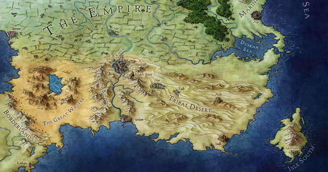 Jonathan Roberts's map for An Ember in the Ashes