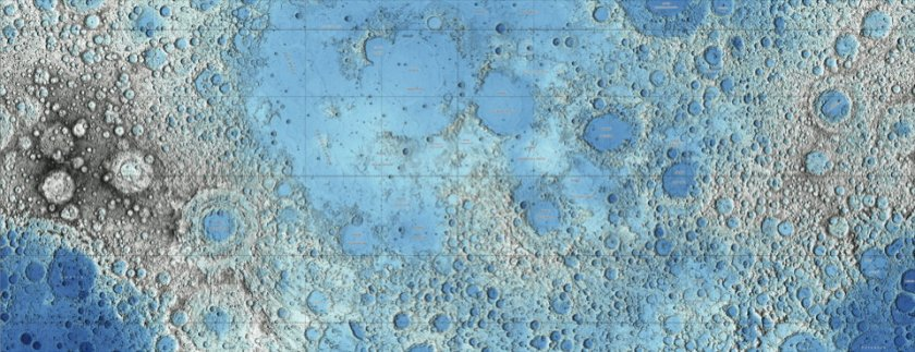 Topographic Map of the Moon (Hare et al.)
