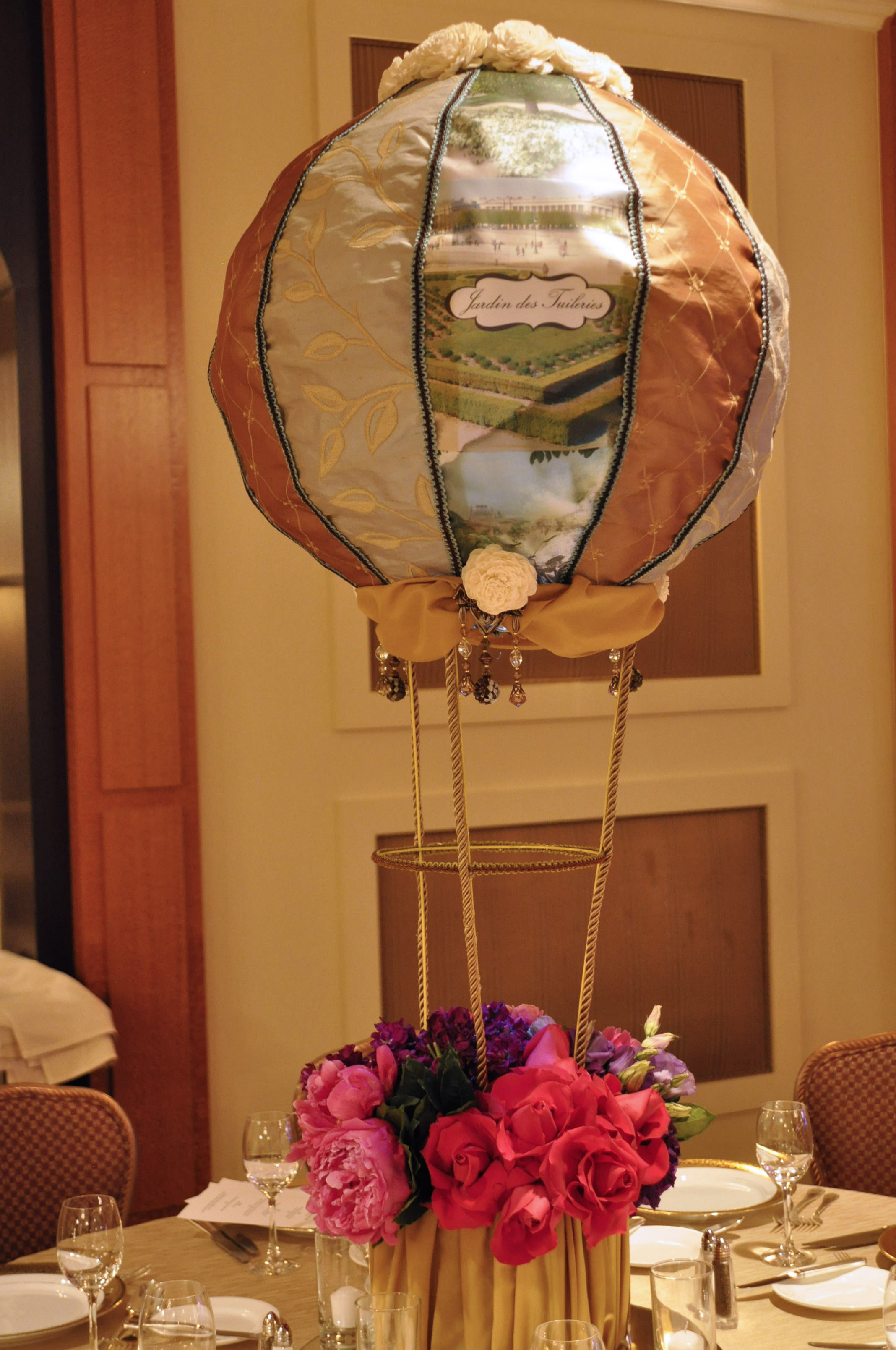 Hot Air Balloon Centerpieces  Jonathan Fong Style