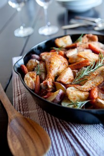 Slow Roasted Chicken Cacciatore with Potatoes and Carrots