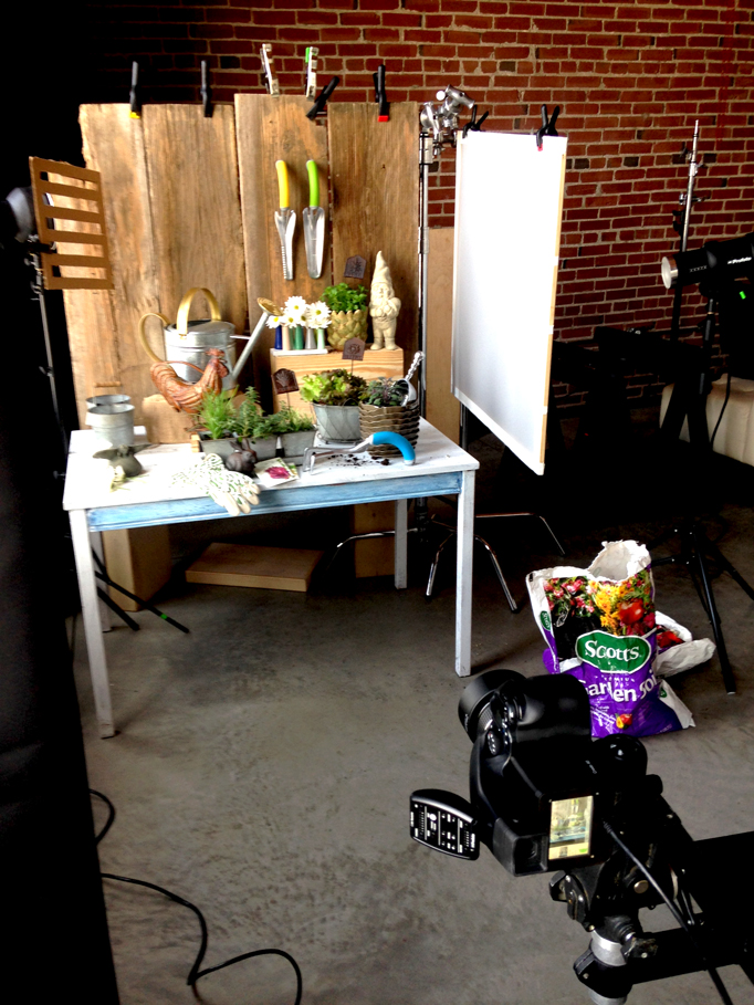 Behind the Scenes: Potting Shed Photo Shoot
