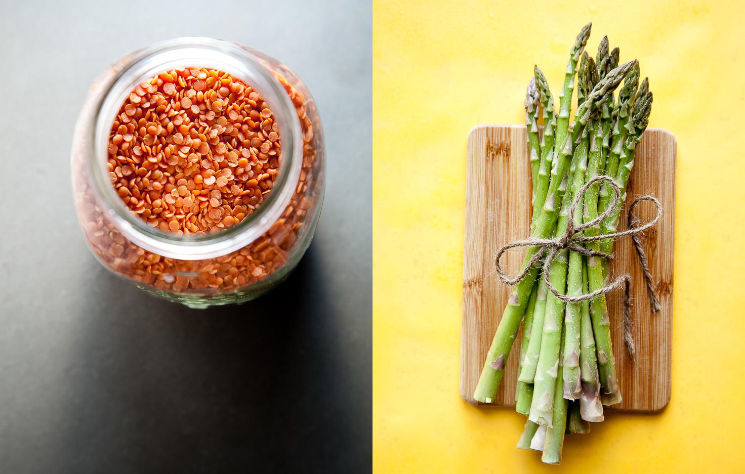 Orange Lentils | Organic Asparagus