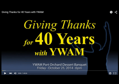 Ron Boehme & YWAM Tribute Video