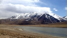 The north side of Khargush Pass. Like most of the passes in the Pamirs, this was teeming with lines to ski.