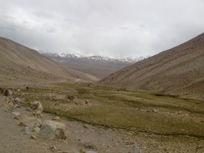 The southside of Khargush Pass, at 4344 meters, has this out-of-place green pasture inhabited by a number of animals and a large family. It felt very out of place, but the greens of the grass were a sight for sore eyes.