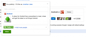 Google+ badge gets an update