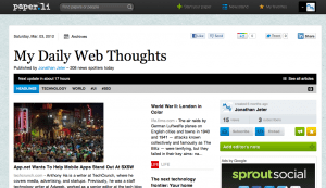 My Daily Web Thoughts Online Newspaper