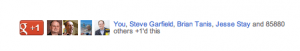 New Google +1 button
