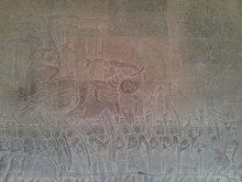 Angkor Archaeological Park - Angkor Wat carving 4
