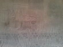 Angkor Archaeological Park - Angkor Wat carving 4