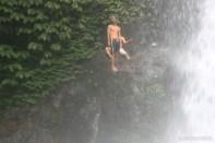 Bali travel - waterfall jumping 4