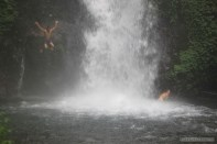 Bali travel - waterfall jumping 6