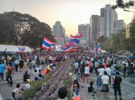 Bangkok again - Lumphini park protests rally 3