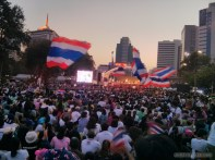 Bangkok again - Lumphini park protests rally 4
