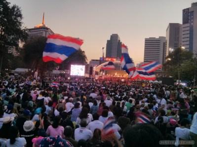 Bangkok again - Lumphini park protests rally 4