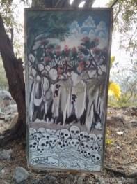 Battambang - killing cave painting