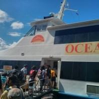 Bohol - boat from Cebu