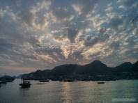Cat Ba - sunset over bay 5
