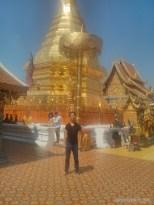 Chiang Mai - Wat Doi Suthep spire portrait 2