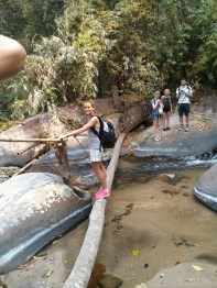 Chiang Mai trekking - day 1 river crossing 1