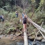 Chiang Mai trekking - day 1 river crossing 2
