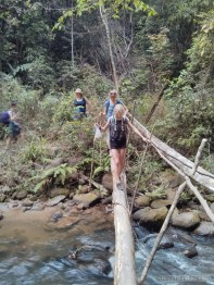 Chiang Mai trekking - day 1 river crossing 2