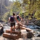 Chiang Mai trekking - day 3 river crossing 1