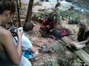 Chiang Mai trekking - spider eating