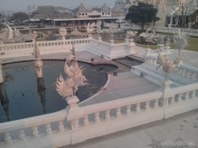 Chiang Rai - white temple pond 1