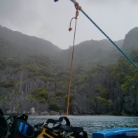 El Nido - scuba diving trip sudden rain 1