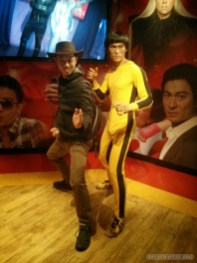 Hong Kong - wax museum Bruce Lee portrait