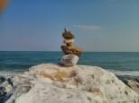Hualien - seaside rock stacking