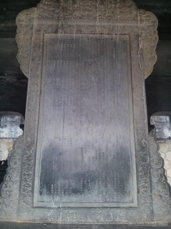 Hue - Khai Dinh tomb stele