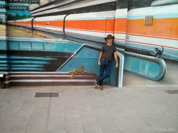 Kaohsiung - Pier 2 art train station portrait