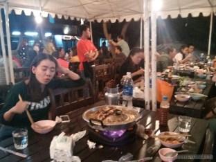 Luang Prabang - hot pot crowd