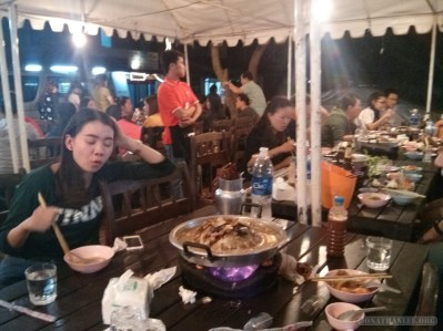 Luang Prabang - hot pot crowd