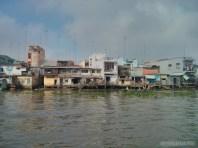 Mekong boat tour - riverside town 4