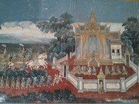 Phnom Penh - royal palace mural 2