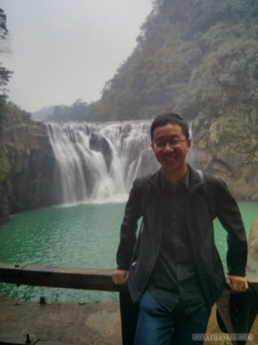 Pingxi - Shifen waterfall portrait 2