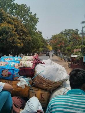 Pyin U Lwin - riding on truck 1