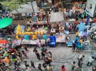 Songkran in Bangkok - Silom from above 11